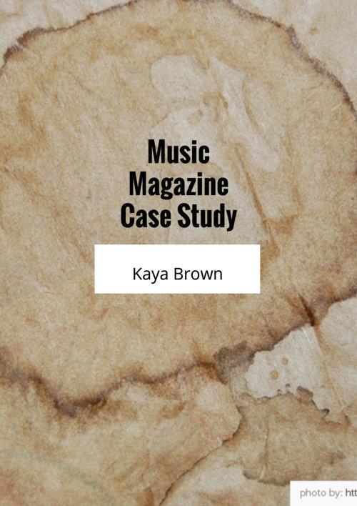 Music Magazine Case Study