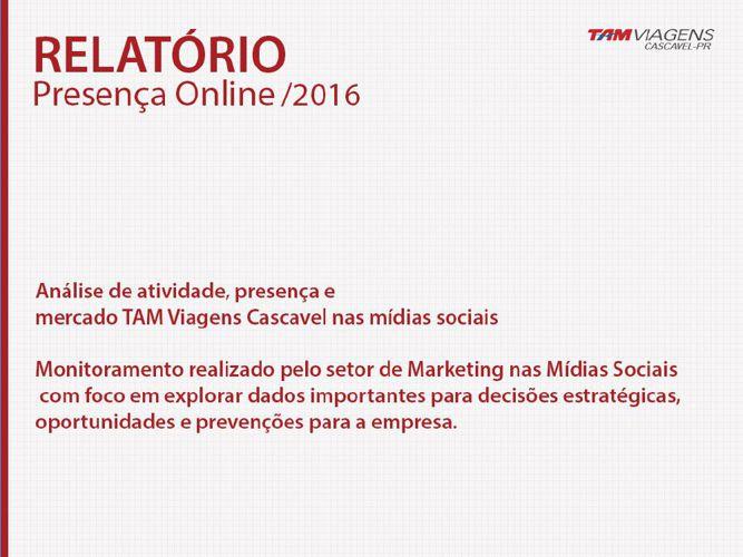 RELATORIO 2016 - FACEBOOK