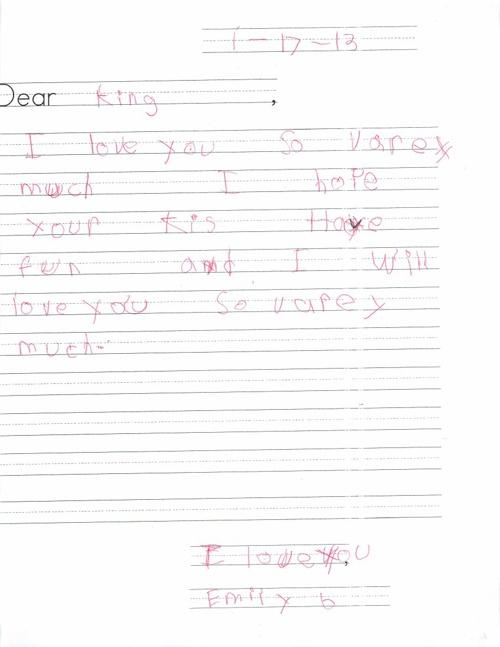 Dear Dr. King