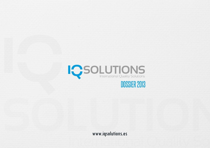 IQSolutions Dossier 2013