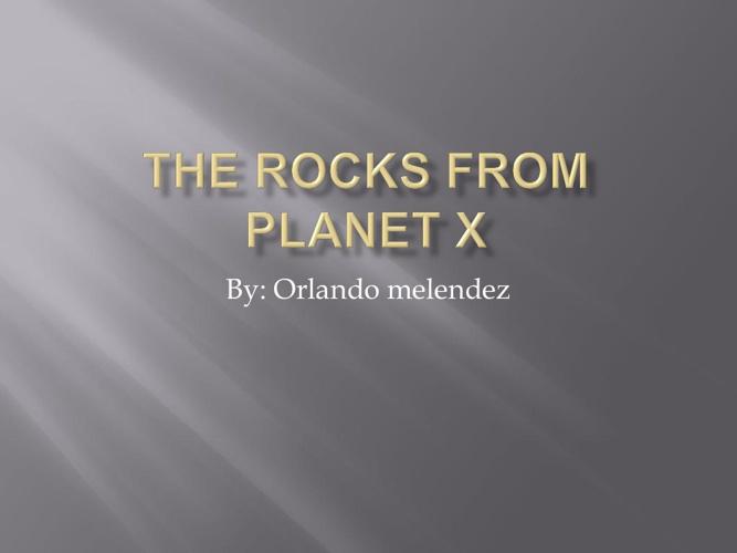 Orlando's rock project