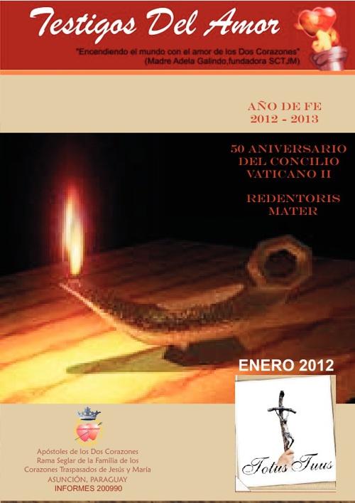 Revista TESTIGOS DEL AMOR - Enero 2012