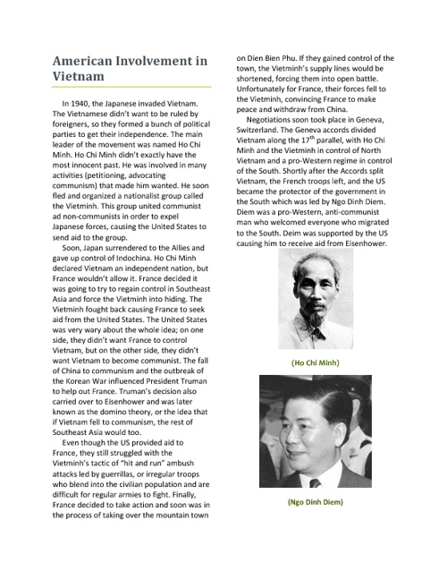 Olivia Pladson--Vietnam Project
