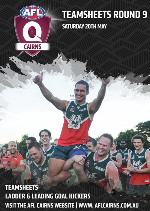 AFL Cairns Team Sheets Round 9