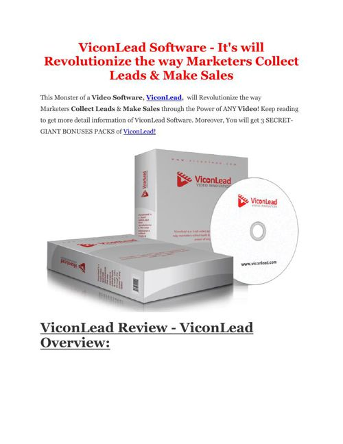 PRO review of ViconLead and Special $10,000 Bonus pack