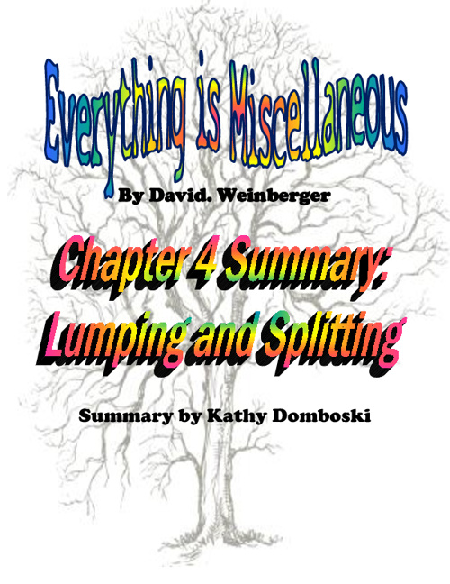 Everything is Miscellaneous: Ch. 4