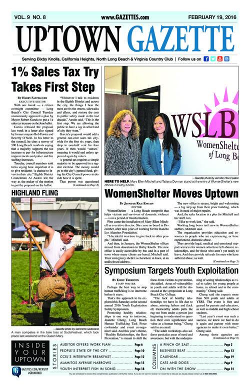 Uptown Gazette  |  February 19, 2016