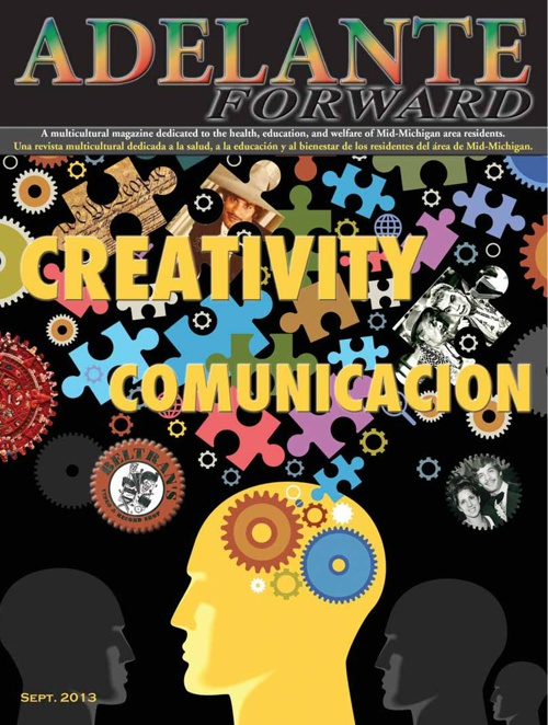 "Adelante Forward magazine September/October 2013 ""Creativity"""
