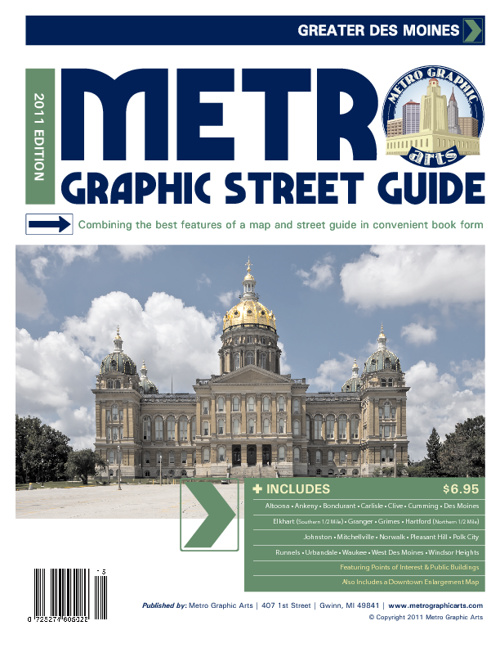 Des Moines 2011-2012 Street Guide by Metro Graphic Arts (B&W)
