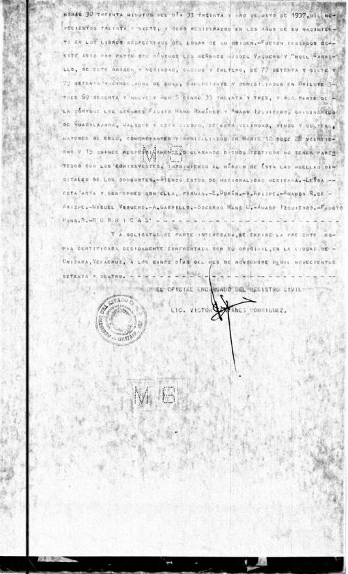 Acta de Matrimonio Rivera- Arispe