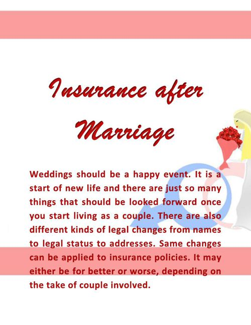 Insurance After Marriage
