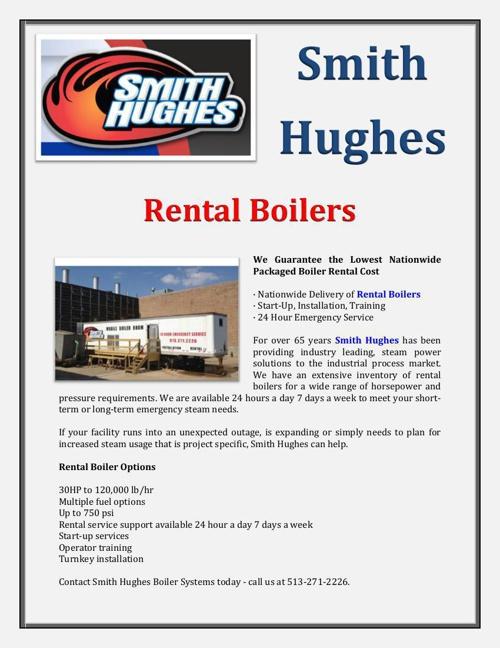 Smith Hughes Rental Boilers