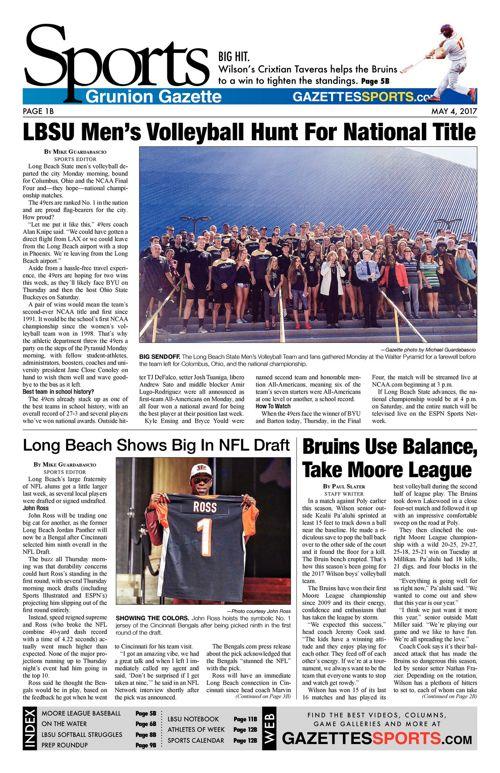 Gazette Sports  |  May 4, 2017