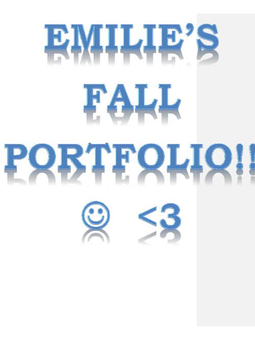 Emilie's Fall portfolio