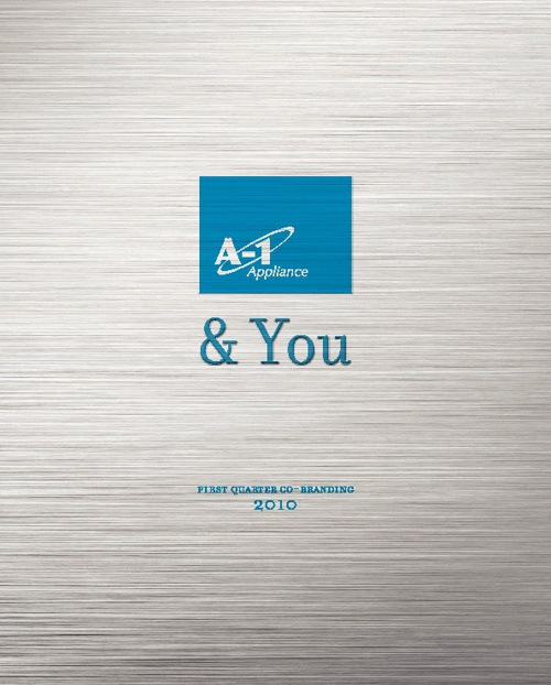 A-1 Appliance Co-Branding Brochure