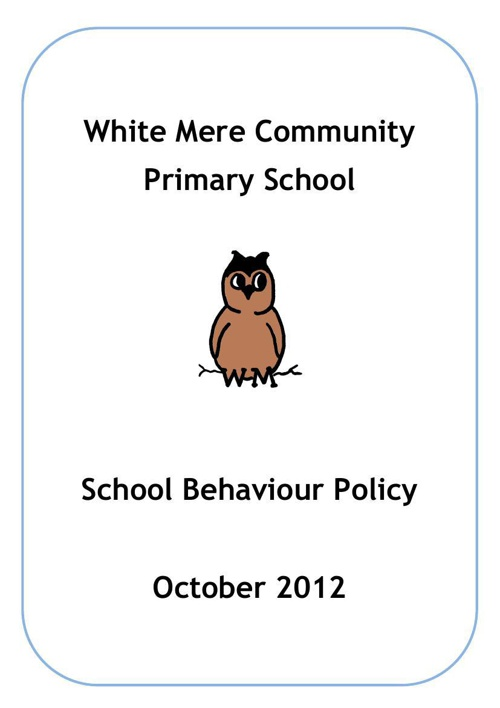 White Mere Primary School Policies