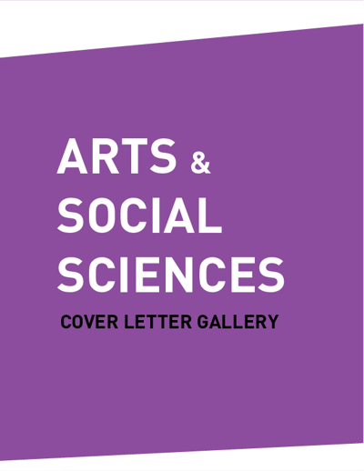 Cover Letter Gallery (ARTS & SOCIAL SCIENCES)