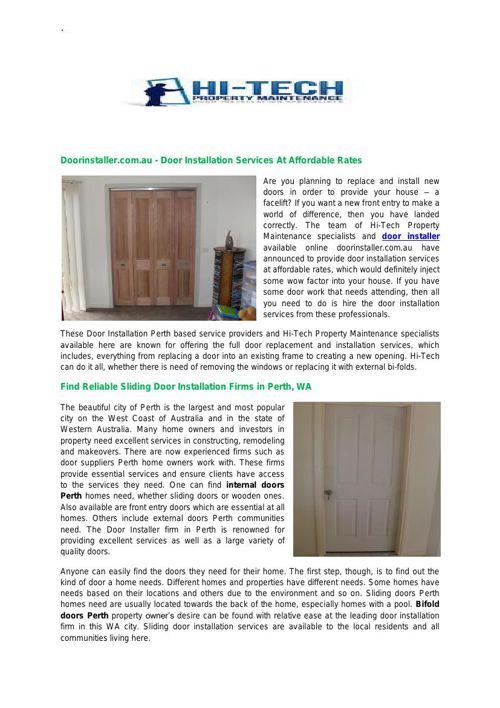 Door Installation Perth