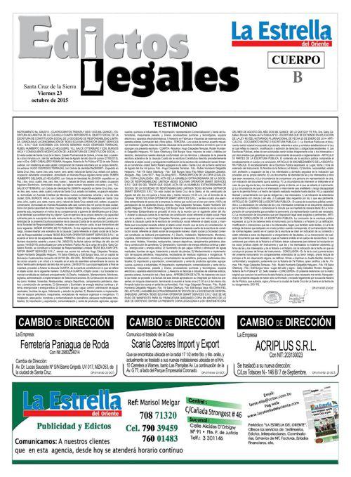 Judiciales 23 viernes - octubre 2015