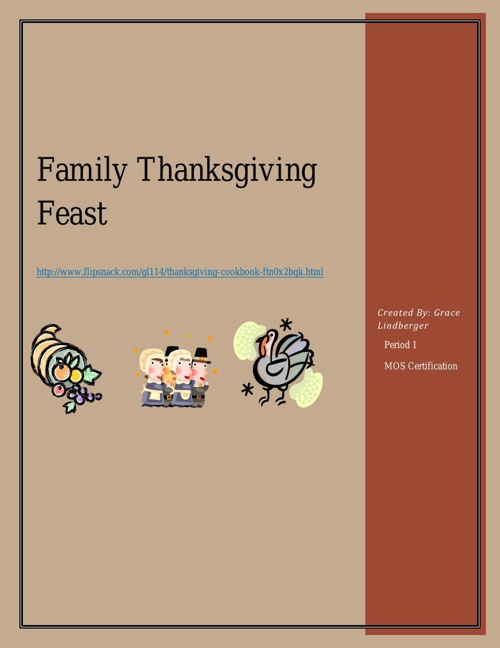 Thanksgiving Cookbook (Final)
