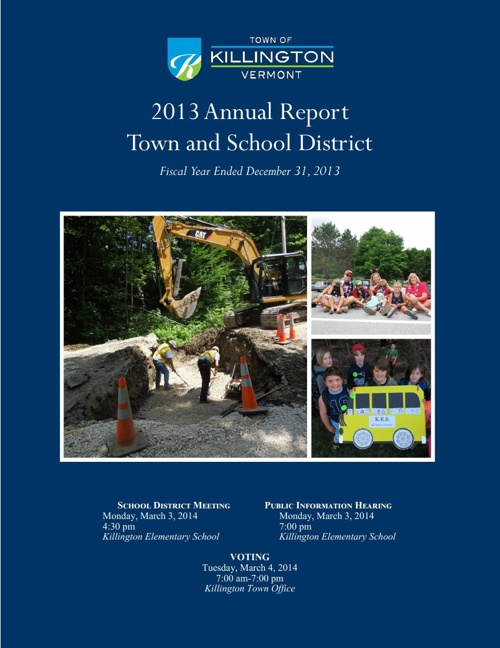 2013 Town of Killington Annual Report