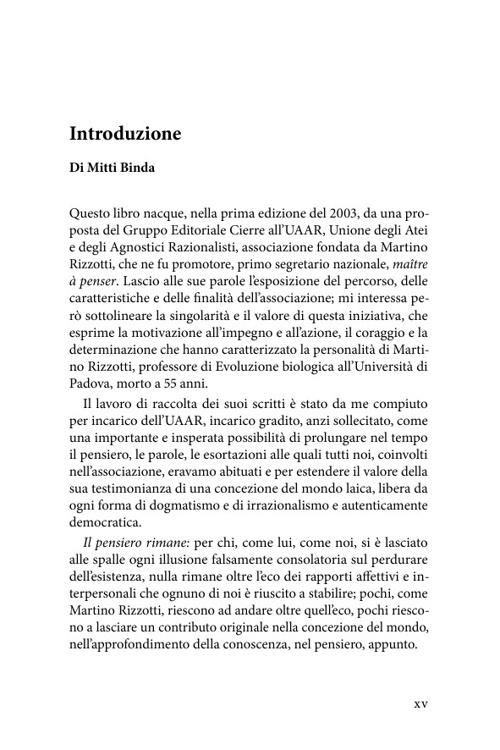 NESSUN DOGMA - Martino Rizzotti - Il pensiero rimane - Anteprima