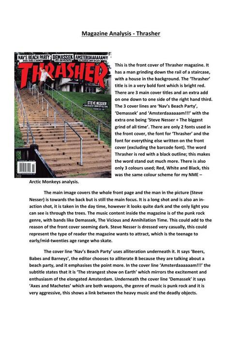 Magazine Analysis - Thrasher