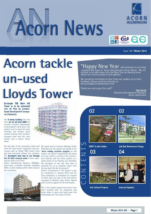 Acorn News - Issue 001 - Winter 2015