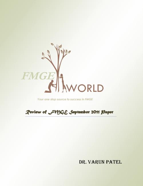 FMGE September 2011 paper