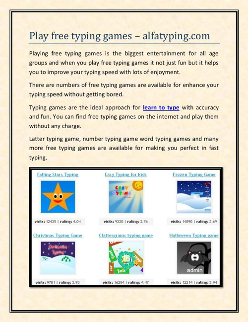 Play free typing games – alfatyping.com