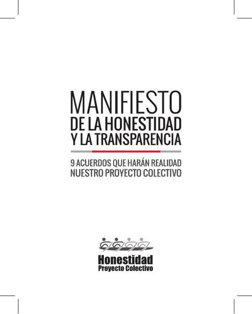 Manifiesto de la Honestidad y la Transparencia
