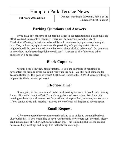 HPT Newsletter July 2007