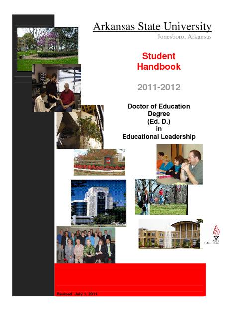 Doctoral Student Handbook 2012