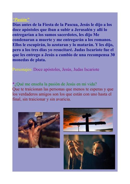 Pasion Muerte y Resurreción de Jesús