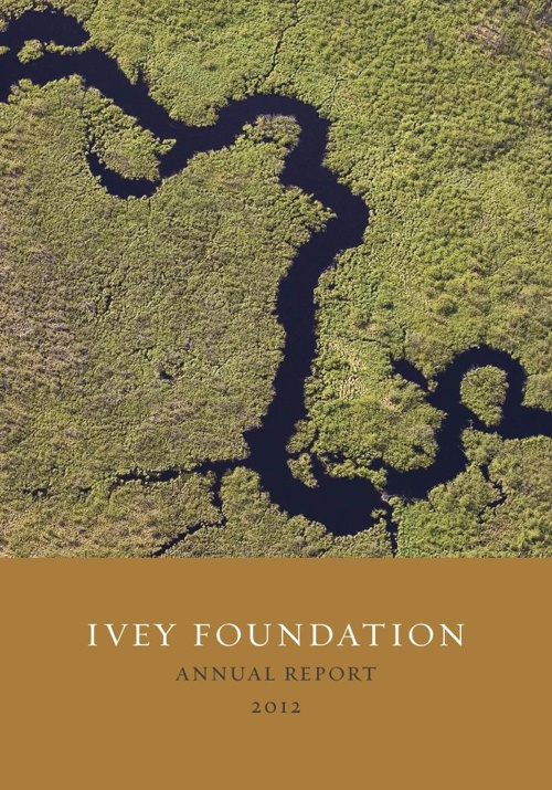 Ivey Foundation Annual Report 2012