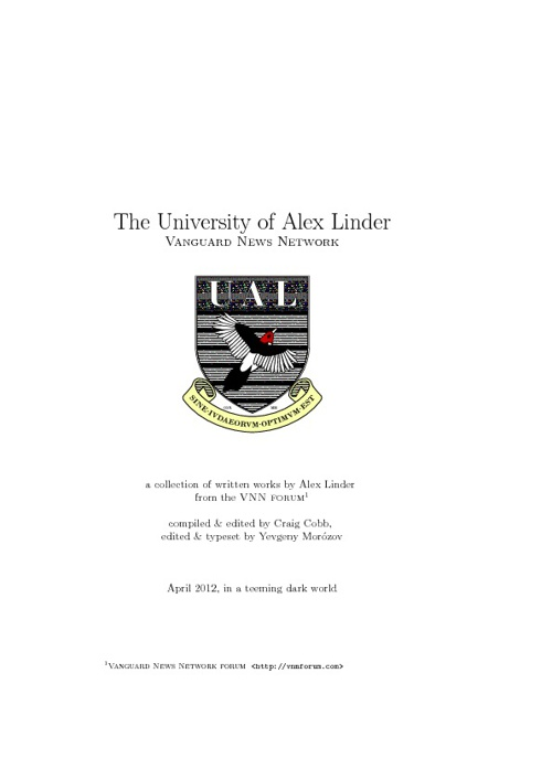 The University of Alex Linder - Vanguard News Network