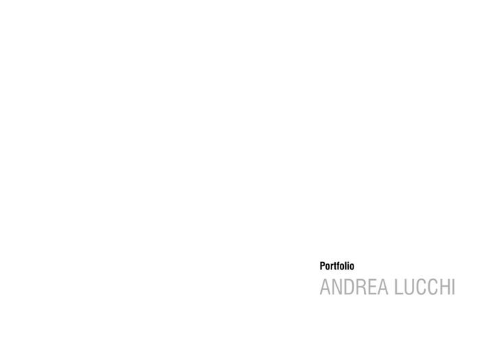 Portfolio Andrea Lucchi
