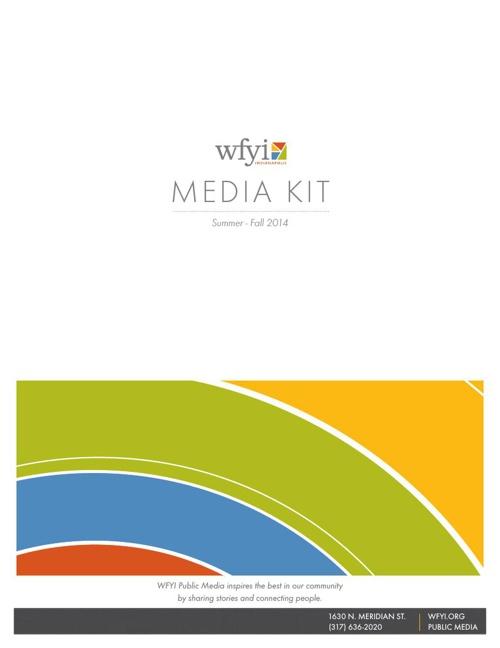 WFYI Media Kit Summer 2014