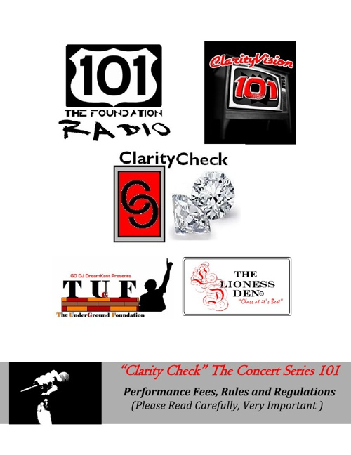 "Clarity Check The Concert Series 101 ~Back To The Basics"" 2.22"
