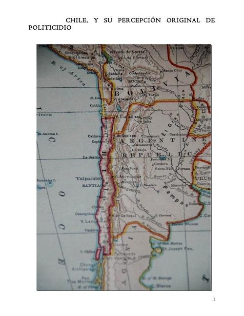 Chile, y su Percepción Original de Politicidio.