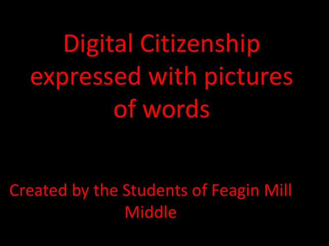 Digital Citizenship with pictures
