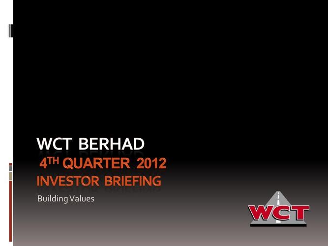 4th Quarter 2012 Investor Briefing
