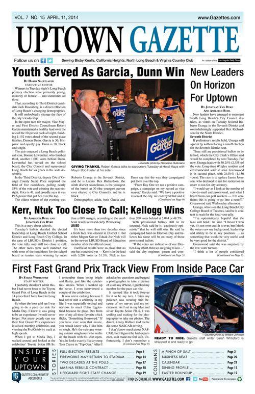 Uptown Gazette  |  April 11, 2014