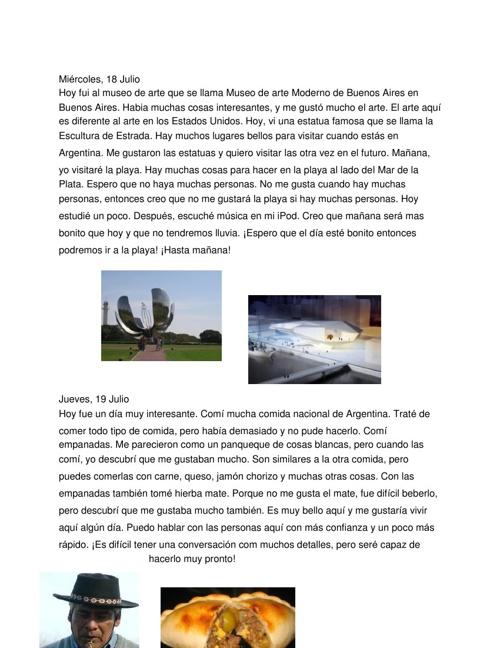 Un Dia en la Vida en Mi Viaje a Argentina