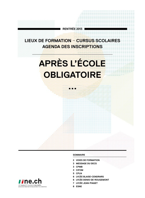 Formation secondaire 2