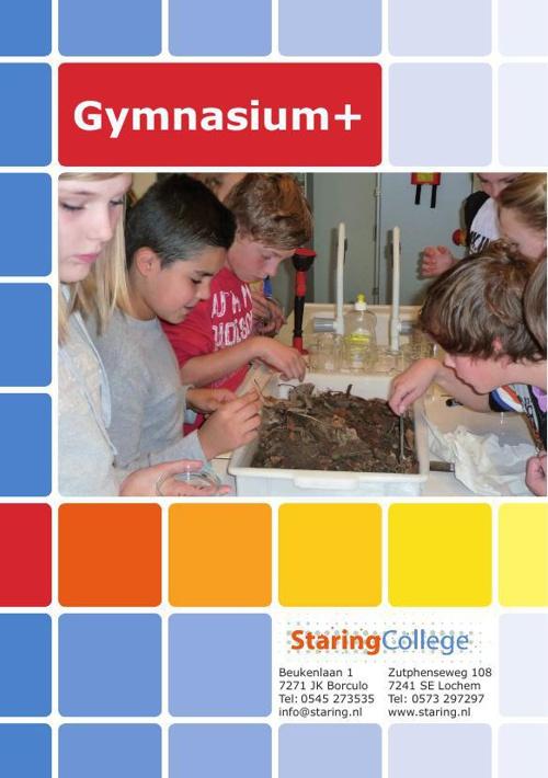 Folder 'Gymnasium+' Staring College
