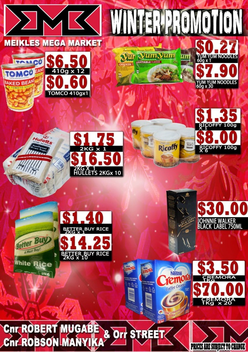 MEIKLES MEGA MARKET - Winter Promotion