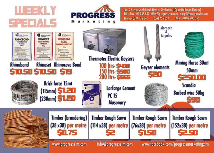 PROGRESS MARKETING Weekly Specials