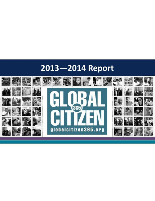 2013-2014 Global Citizen Annual Report
