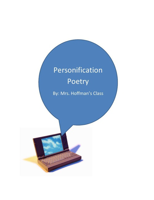 Personification Poetry 2014